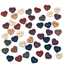 Knappar: mini stitched hearts