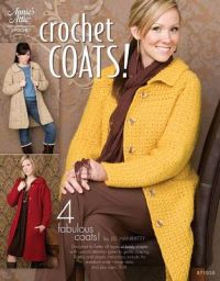 Crochet coats! mönster till 4 virkade kappor/jackor  Engelsk text!