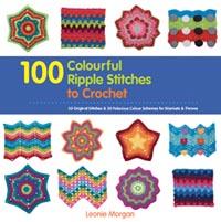 100 colorful ripple stitches
