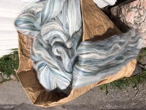 Alpacka /ull med vit-grå-blå toner. Vinterverkstans blandning
