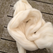 Spinn själv!  topsband av 50% tussah silke och 50% mjuk merino