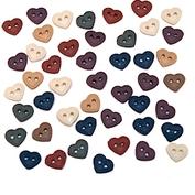 Knappar: hjärtan, mini stitched hearts