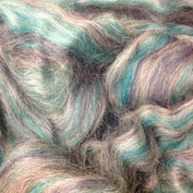 turkos o grått  topsband av ull vinterverkstans blandning  turkos o grått