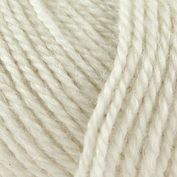 No.3 Organic Wool+Nettles nr 1101 råvit