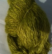 Vinterverkstans Silkemohair lime handfrgat