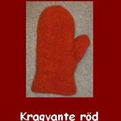 Röd tovad kragvante