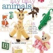 Virka små söta djur! Itty-Bitty Crochet animals