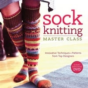 Sock knitting master class av Ann Budd  bok med DVD alldeles ny!