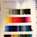 colour chart  3-trådigt strikkegarn